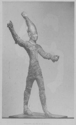 Glasplattendia Paris, Louvre, Statue d. Baal aus Minet el-Beida [Ras esch-schamra], 16.-14. Jhd.
