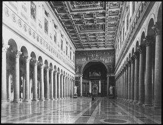 Glasplattendia Rom, S. Paolo f. l. m. Inneres.