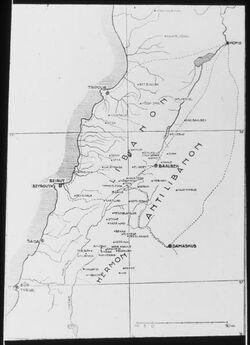 Glasplattendia Libanon, Hermon und Antilibanon