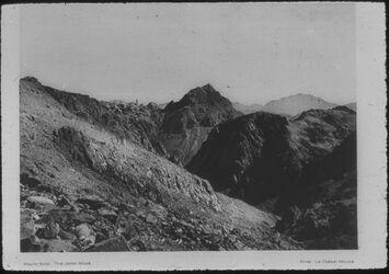 "Glasplattendia Dschebel [gebel, djebel] Musa, (""Berg Moses""), Sinai-Halbinsel"