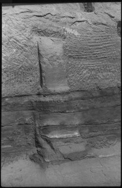 Glasplattendia Pfeileridol Nr. 389c [Petra]