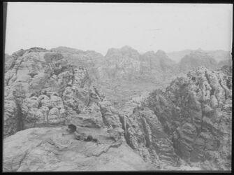 Glasplattendia Panorama v. en-umer IV [Umgebung Petra]