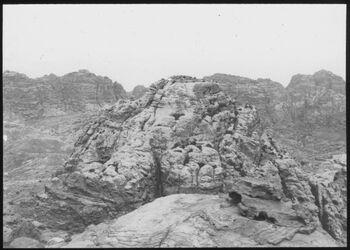 Glasplattendia Panorama v. en-umer II (g. umer) [Umgebung Petra]