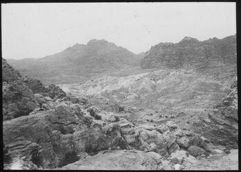 Glasplattendia Panorama v. umer I (n. barun) [Umgebung Petra]