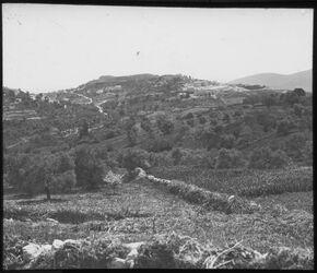 Glasplattendia Burg von Safed von NO