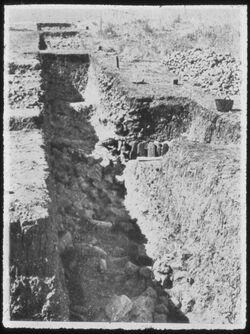 Glasplattendia Tell el-Kadah, Area C, der Tempel