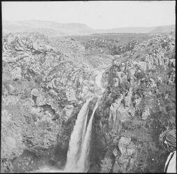 Glasplattendia Wasserfall des nahr es-saar [nahr oder wadi es-saar] bei banias [banyas] (Oberer Teil)