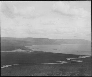 Glasplattendia Mündung des Jordan u. bteha [in den See Genezareth]