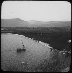 Glasplattendia Plain of Gennezareth + the Lake [Genezareth]