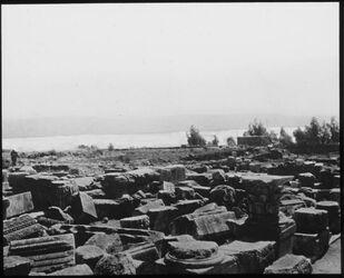 Glasplattendia See Genezareth Kapernaum [kafarnaum]