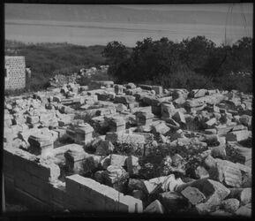 Glasplattendia Synagoge v. Kapernaum [kafarnaum]