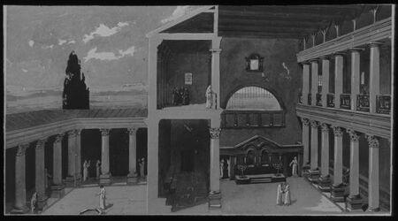 Glasplattendia Rekonstr. D. Syn. Von N (Inneres) [kafarnaum, kapernaum]