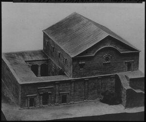 Glasplattendia Synagoge in tell hum [kapernaum, kafarnaum] v. N., Kohl u. Watz.