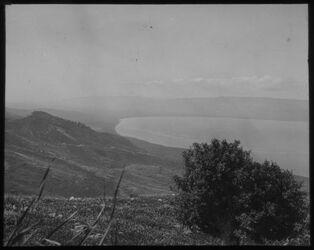 Glasplattendia Südende des Sees v. Tiberias [See Genezareth] v. Hippos [Kalat el-hosn]