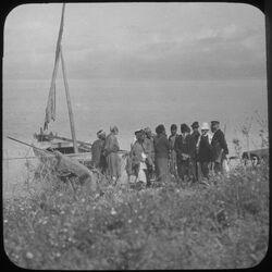 Glasplattendia Einbooten in Samach, See Genezareth