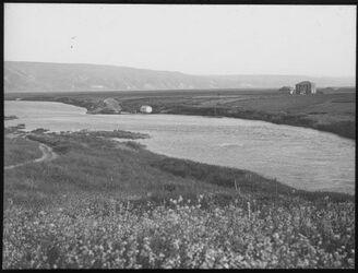 Glasplattendia Jordanausfluss u. d. See [See Genezareth], Kal. Dagania [Kibbuz Dagania].