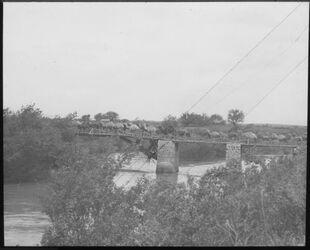 F XIV 18; Glasplattendia; Brücke über Jordan bei Besar