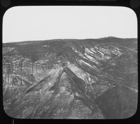 Glasplattendia bei Masada view from summit of Masada [es-sebbe], looking S.