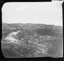 Glasplattendia bei Masada [es-sebbe] view from summit of Masada, looking N.
