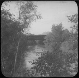 F XV 10; Glasplattendia; Jordanbrücke [Allenby-Brücke] von S.