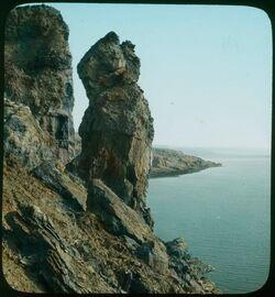 Glasplattendia Pillar of Salt [Salzsäule, Totes Meer]