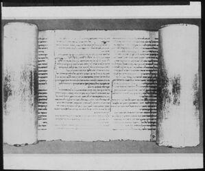 Glasplattendia Jesajarolle I (Kol. 32-34) [Qumran-Funde]