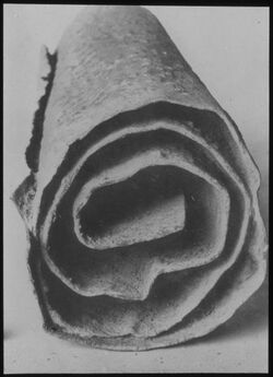 Glasplattendia Kupferrolle [Qumran-Funde]