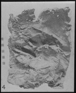 Glasplattendia Tasche, aus zwei Bogen eines ar. MS gefertigt, Al Muraba