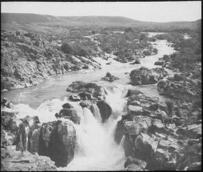 Glasplattendia Wasserfall des Jarmuk