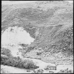 Glasplattendia Steilufer des Jarmuk bei el-hamme