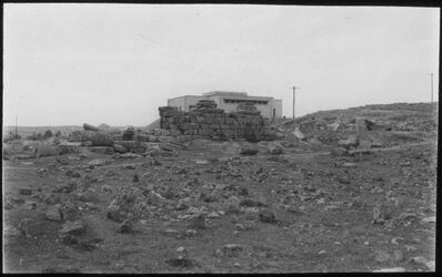 Glasplattendia Ruinen des alten Amman (dahinter Museum)