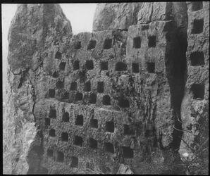 Glasplattendia Columbarium bei arak el-emir