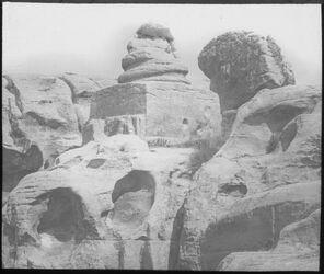 Glasplattendia Schlangengrabmal Petra [Petra]