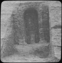 Glasplattendia Idolnische Nr. 29 [Umgebung Petra]