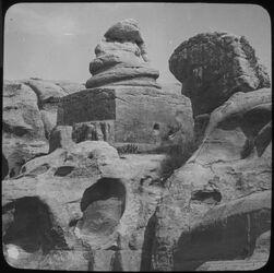 Glasplattendia Schlangendenkmal Nr. 313 [Petra]
