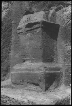 Glasplattendia Altar Nr. 251 el farasa [Petra]