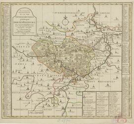 Accurate Delineation des zu dem Thüringischen Creisse gehöhrigen Ammtes Freyburg Altkarten; Thematische Karten - Politik-, Rechts- und Verwaltungskarten