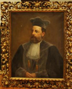 Ölporträt Porträt Anton Oberbeck