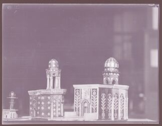 GDIn00218; Planfilmnegativ; Unterschiedliche Modelle der Grabeskirche, Gehört zum Umschlag 1.21